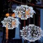 3 White Solar Star Lanterns