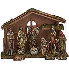 Ceramic Figures with Creche Nativity Set