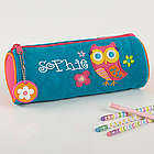 Lovable Owl Embroidered Pencil Case