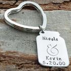 Mason Jar Anniversary Personalized Key Chain