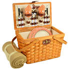 Frisco Picnic Basket for 2 with Blanket