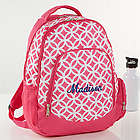 Geo Pink Embroidered Backpack