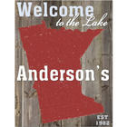 Personalized Welcome to the Lake House State Canvas Sign