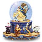 Beauty and the Beast Rotating Base Musical Glitter Globe