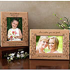 Personalized Flowers and Butterflies Wooden Picture Frame