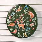 Woodland Animals Lighted Recycled Oil Drum Lid Wall Art