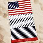 Personalized Patriotic Beach Throw
