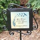 Personalized Your Wings Were Ready Memorial Garden Stake