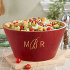 "Monogrammed 12"" Bamboo Wooden Bowl"
