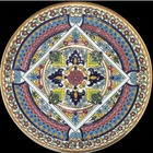 24 Kt Gold Ceramic Hand Enameled Decorative Plate