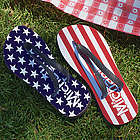 Personalized Stars and Stripes Flip Flops