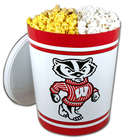 Wisconsin Badgers Popcorn Gift Tin