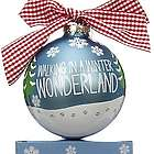 Personalized Walking in a Winter Wonderland Christmas Ornament