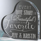 Personalized Romantic Love Quotes Heart Plaque