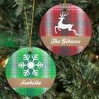 Plaid Christmas Personalized Ornament