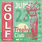 Golf Classic Game Ticket Wall Art