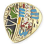 Mayan Calendar Brass Guitar Pick