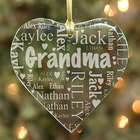 Grandma's Heart Personalized Word-Art Ornament