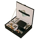 Carson Faux Leather Men's Valet in Black