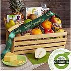 Organic Indulgence Fruit and Snacks Sympathy Gift Basket