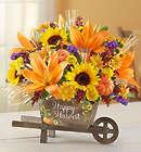 Happy Harvest Large Wheelbarrow Centerpiece