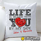 Smiley Personalized Love Throw Pillow