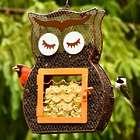 Owl Dual Seed & Suet Birdfeeder