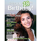 18th Birthday Personalized Magazine Cover