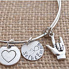 I Love You Sign Language Personalized Adjustable Bracelet