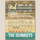 Personalized Serenity Prayer Canvas Print