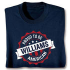 Proud to Be American Personalized Blue T-Shirt