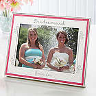 My Bridesmaid Engraved Pink Border Photo Frame