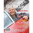 65th Birthday Personalized Magazine Cover