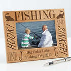 Personalized Fishing Custom Wood Picture Frame