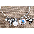 Love My Soldier Personalized Adjustable Wire Bangle Bracelet