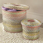 Seagrass Lidded Baskets