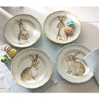 Assorted Bunny Plates Set