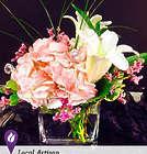 Pink Dream Floral Arrangement in Cube Vase