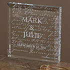 Love Is Patient Engraved 3-D Crystal Sculpture