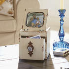 Wood Jewelry Box with Photo Frame