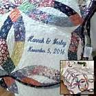 Heritage Personalized Wedding Ring Quilt