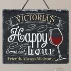 Personalized Happy Hour Slate Sign