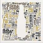 Beer Word-Art Canvas Print