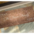 Personalized Peace Family Name Welcome Mat