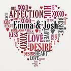 Couples Love Word-Art Canvas Print