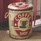 Coffee Design Storage Stool