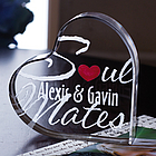 Personalized Soul Mates Acrylic Heart
