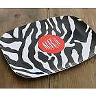Personalized Zebra Pattern Platter