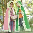 Kids Nature Themed Velour Cloak