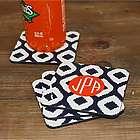 Ikat Pattern Personalized Coasters